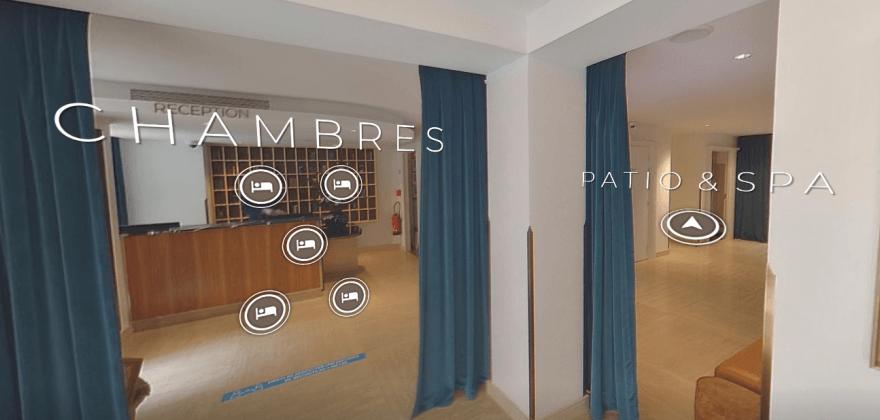 Visite virtuelle : et si vous visitiez l'hôtel Eiffel Blomet sans vous déplacer ?